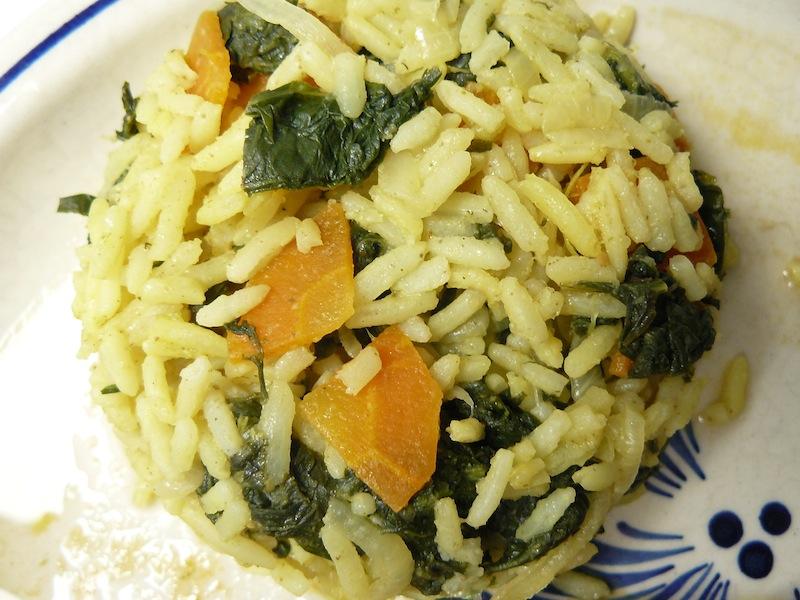 Arroz de grelos com cenoura