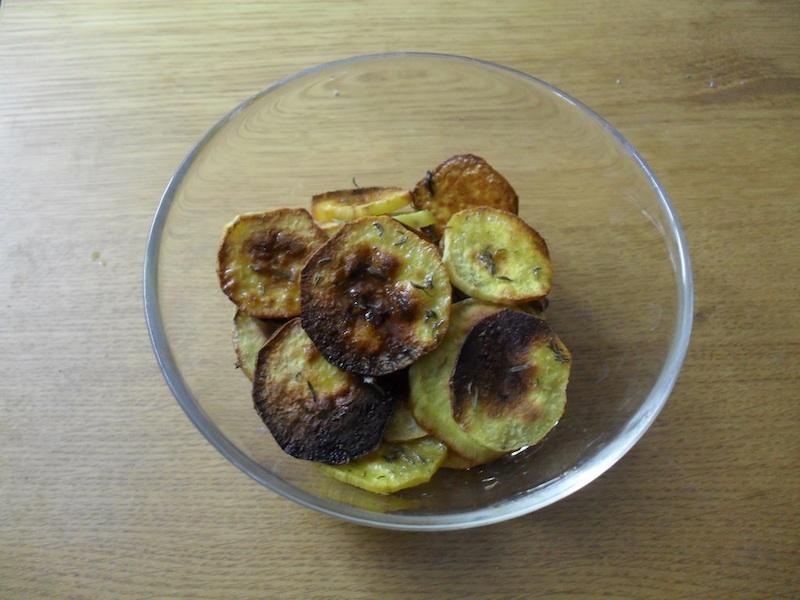 Batata doce no forno com alecrim