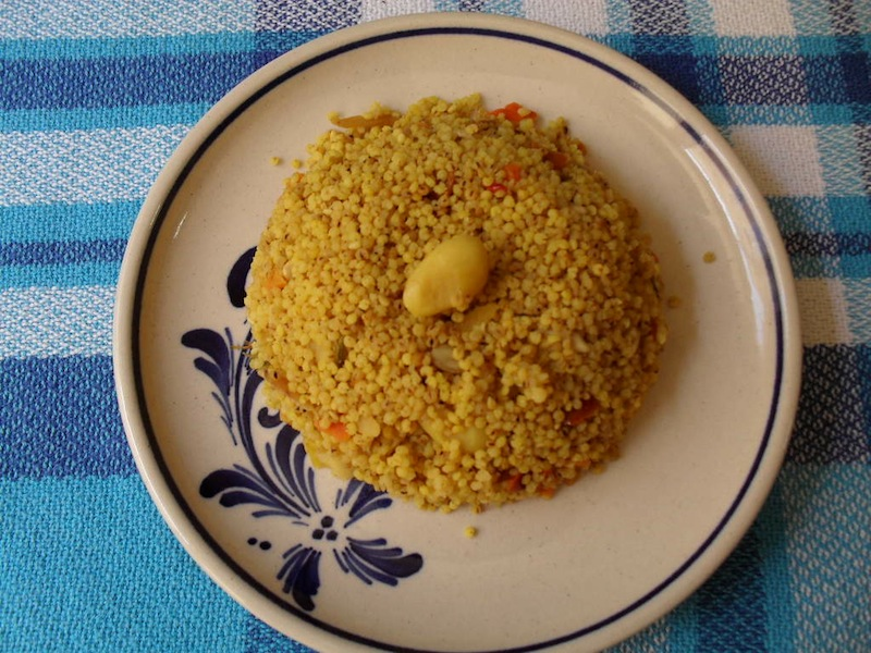 Millet com cenoura e açafrão das Índias