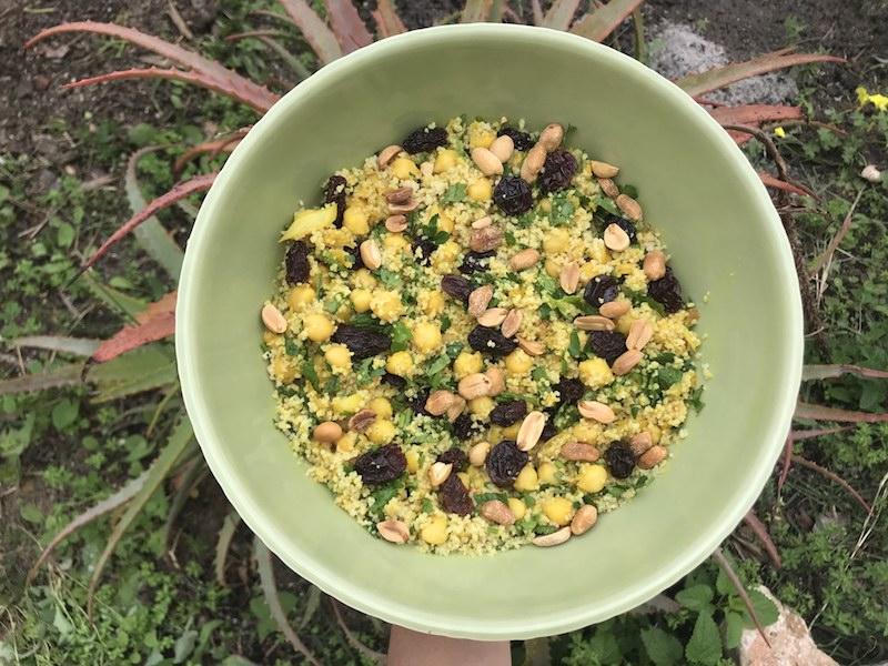 Salada de couscous ao estilo marroquino